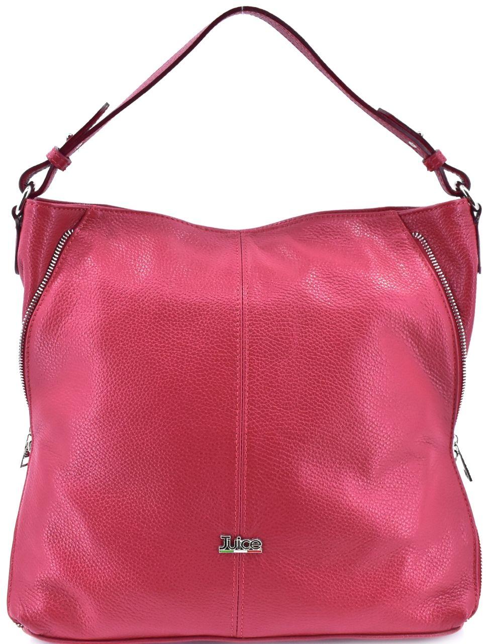 Dámská kožená kabelka Juice - červená 112173