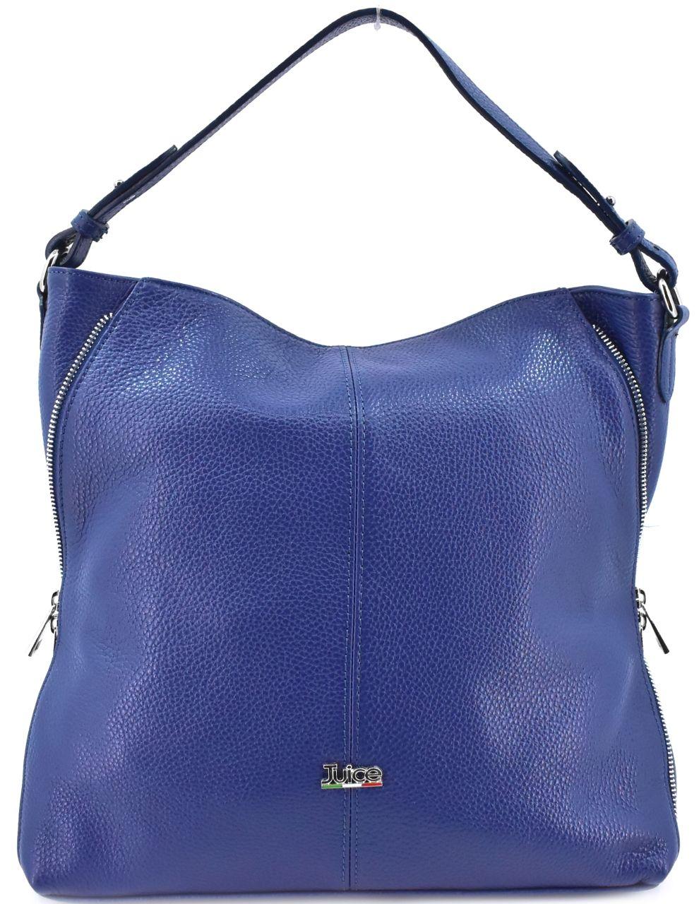 Dámská kožená kabelka Juice - modrá 112173