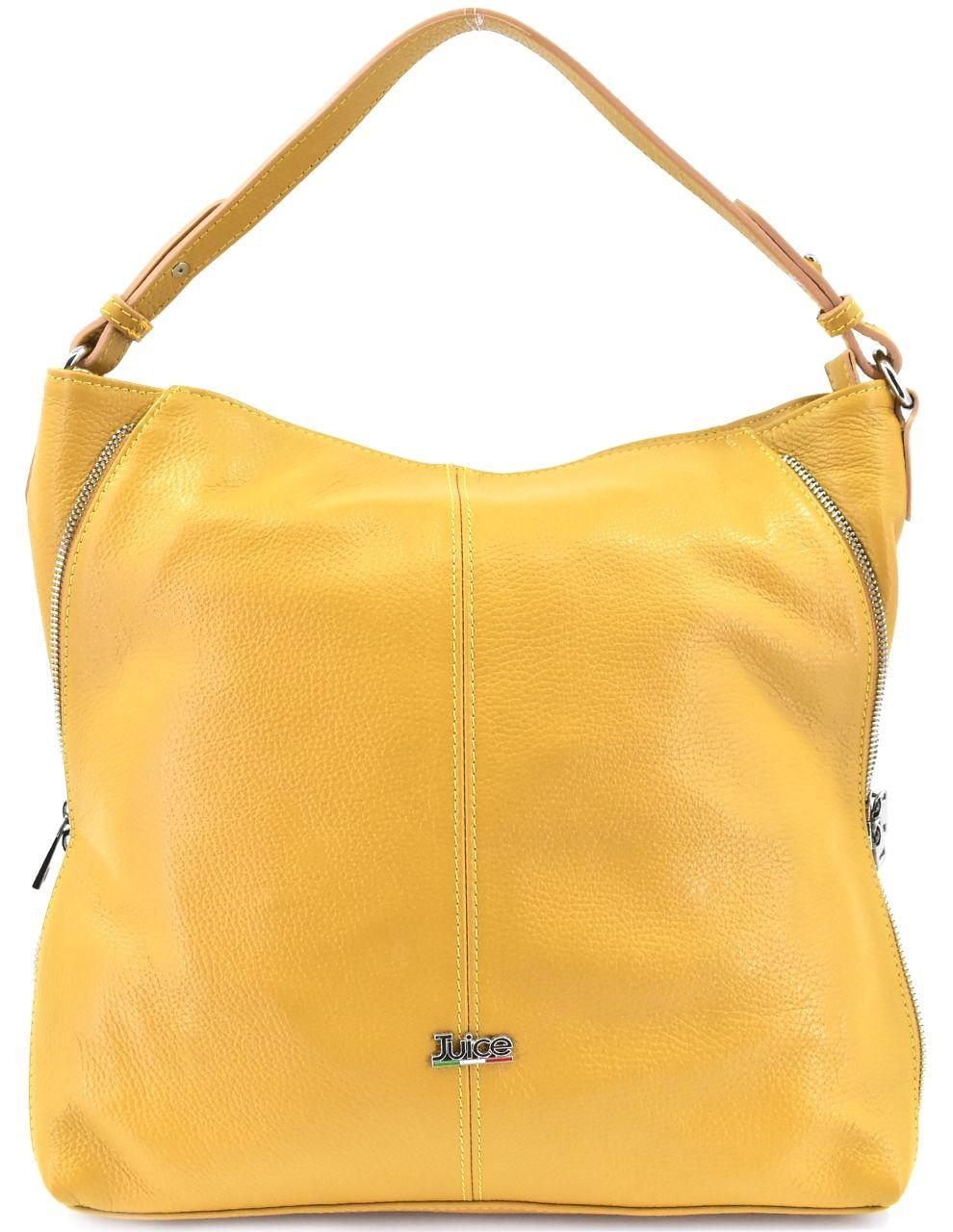 Dámská kožená kabelka Juice - hořčicová 112173
