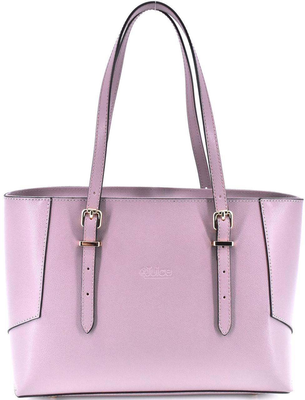 Dámská kožená kabelka Juice - růžová pudrová 112304