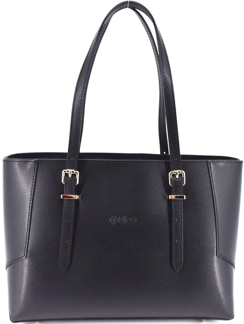 Dámská kožená kabelka Juice - černá 112304