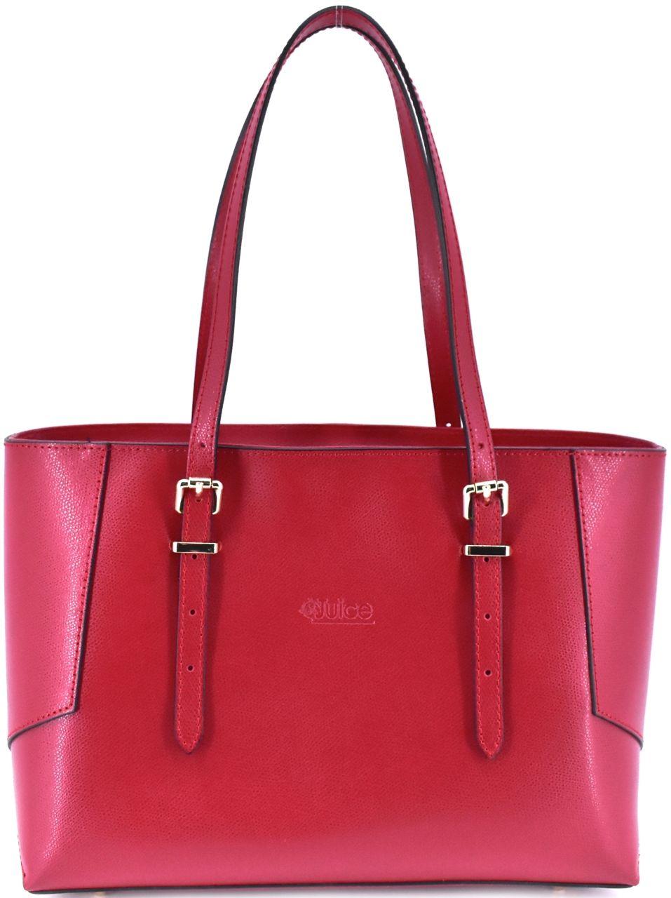 Dámská kožená kabelka Juice červená 112304
