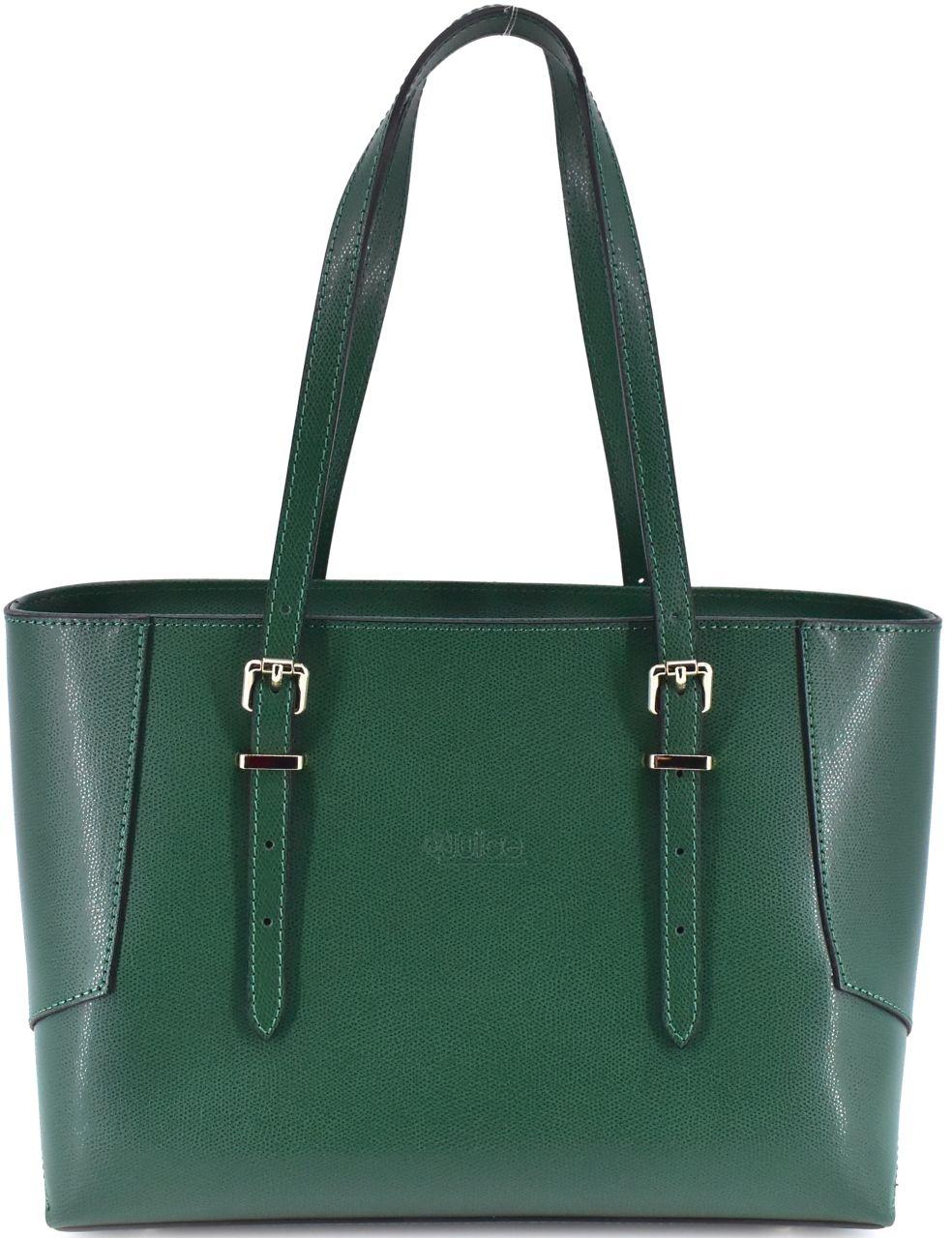 Dámská kožená kabelka Juice - zelená 112304