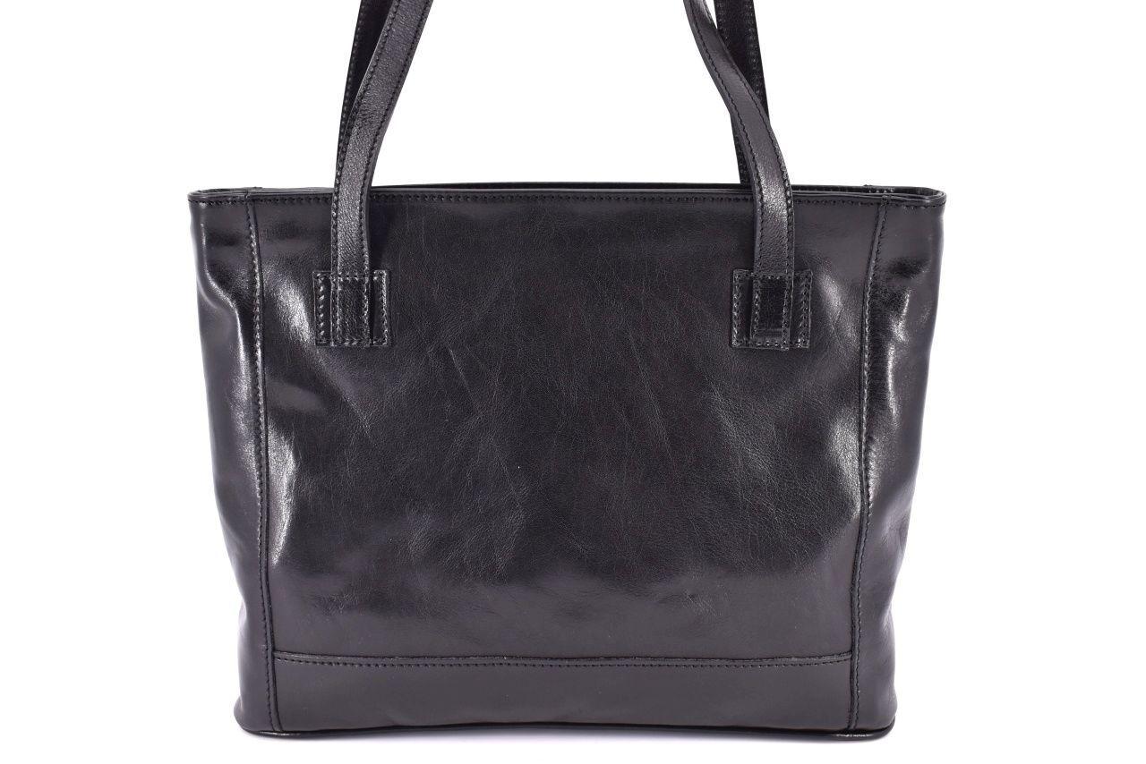 Dámská kožená kabelka Arteddy - černá 29621