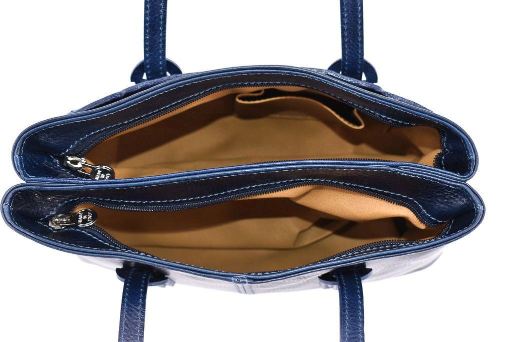 Dámská kožená kabelka Arteddy - hnědá 29628