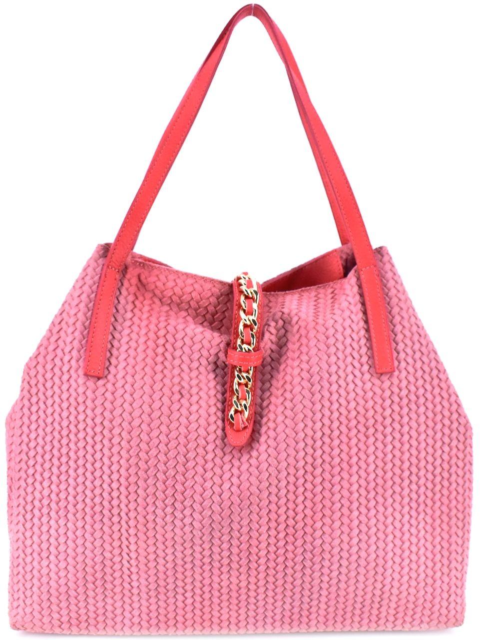 Dámská kožená kabelka Arteddy - červená 29547