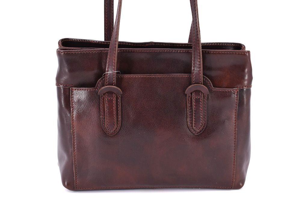 Dámská kožená kabelka Arteddy - tmavě hnědá 29628