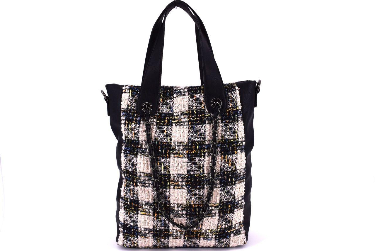 Dámská kabelka textilní béžová 33645