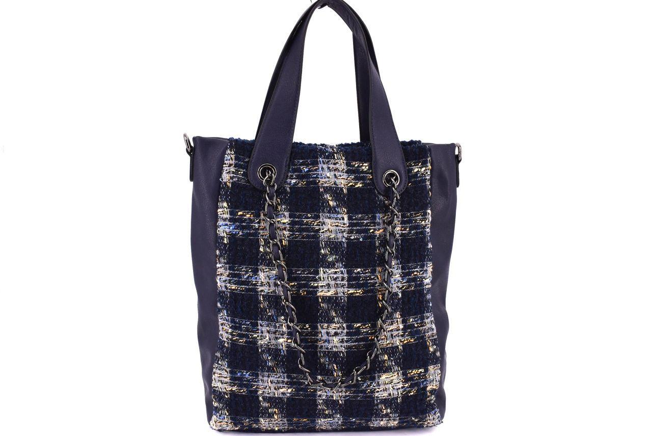 Dámská kabelka textilní modrá 33645