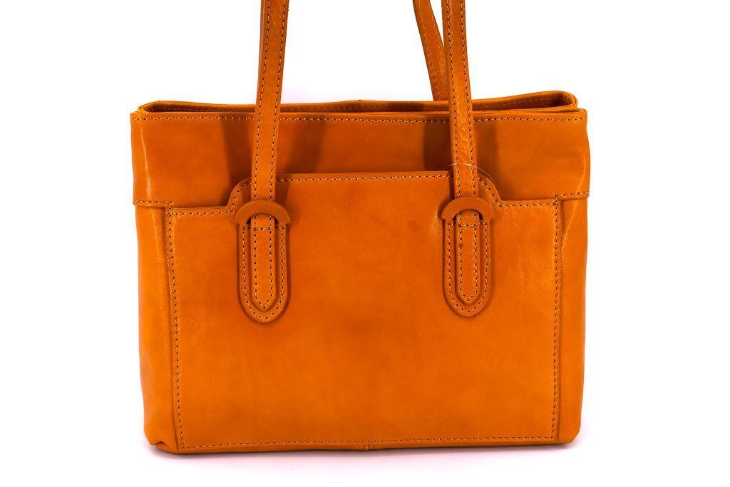 Dámská kožená kabelka  Arteddy - camel