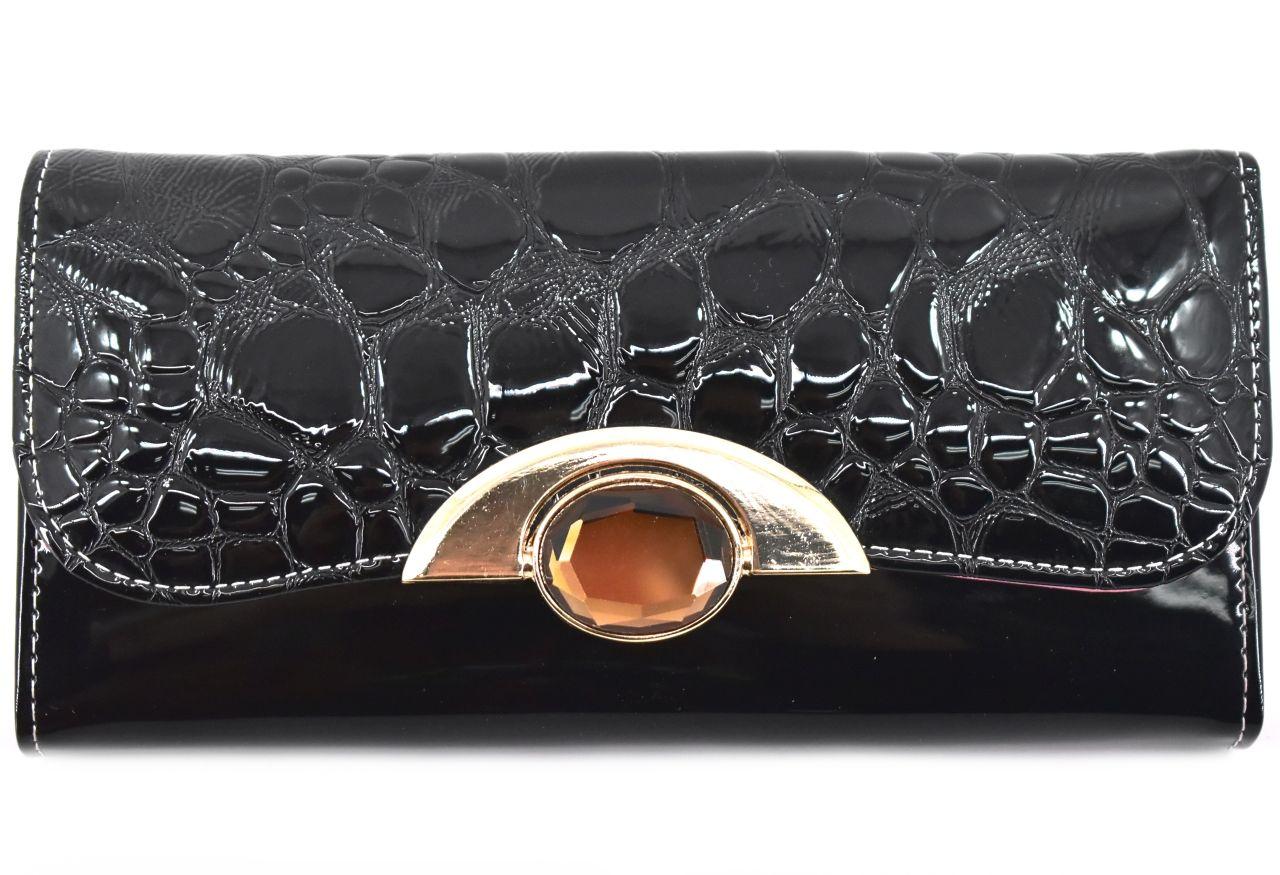 Dámská peněženka a kabelka v jednom - černá 27495