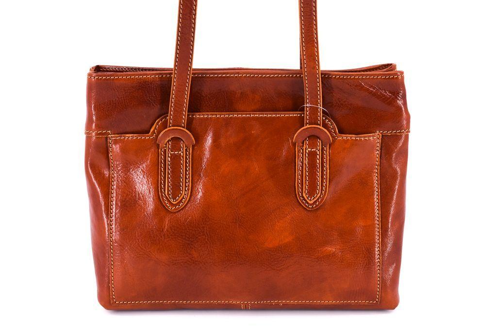 Dámská kožená kabelka Arteddy - koňak 29628