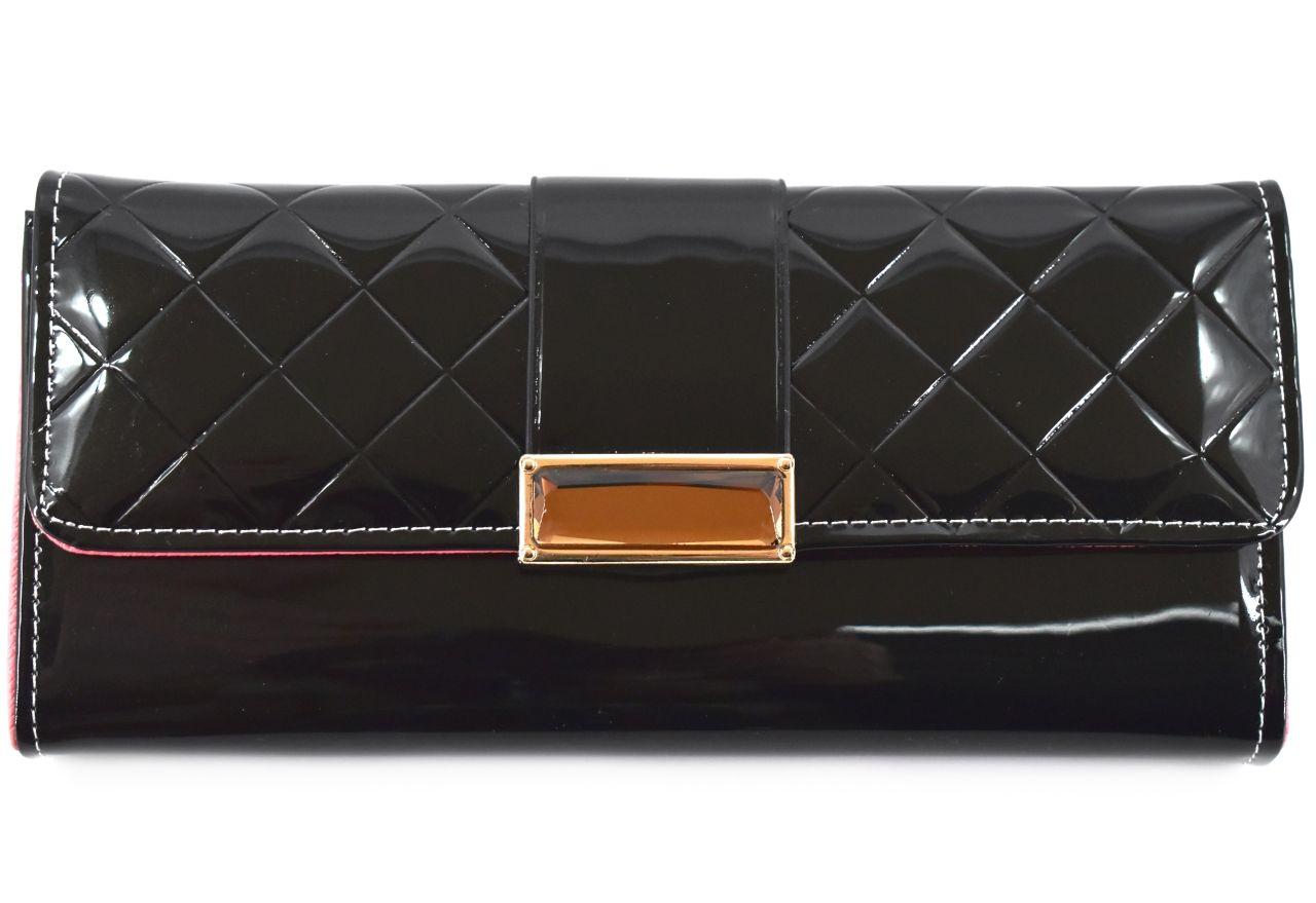 Dámská peněženka a kabelka v jednom - černá 27499