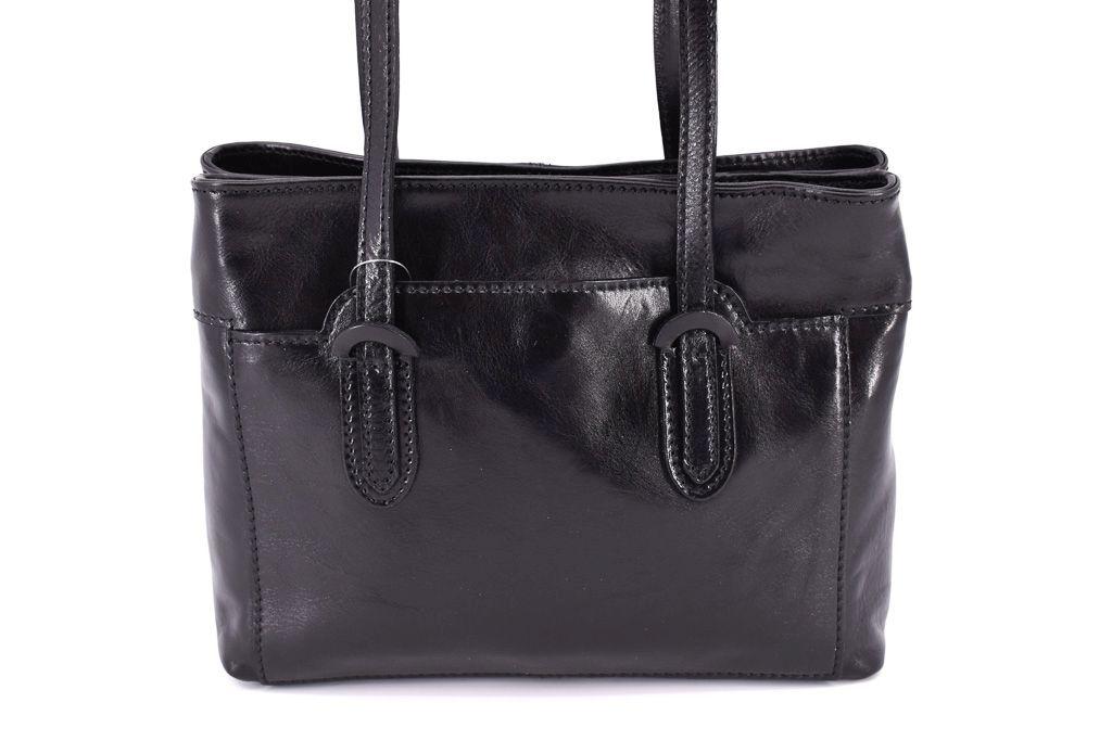 Dámská kožená kabelka Arteddy - černá 29628