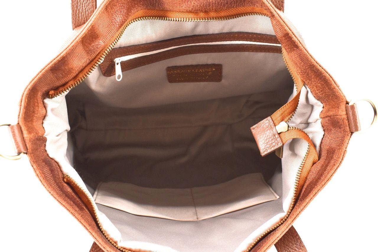 Dámská kožená kabelka Arteddy - hnědá 32417