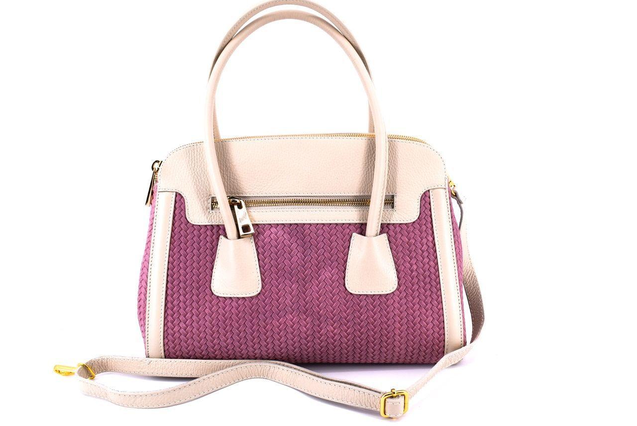 Dámská kožená kabelka Arteddy - růžová 29718
