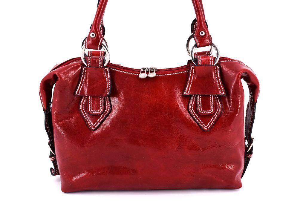 Dámská kožená kabelka Arteddy - červená 10791