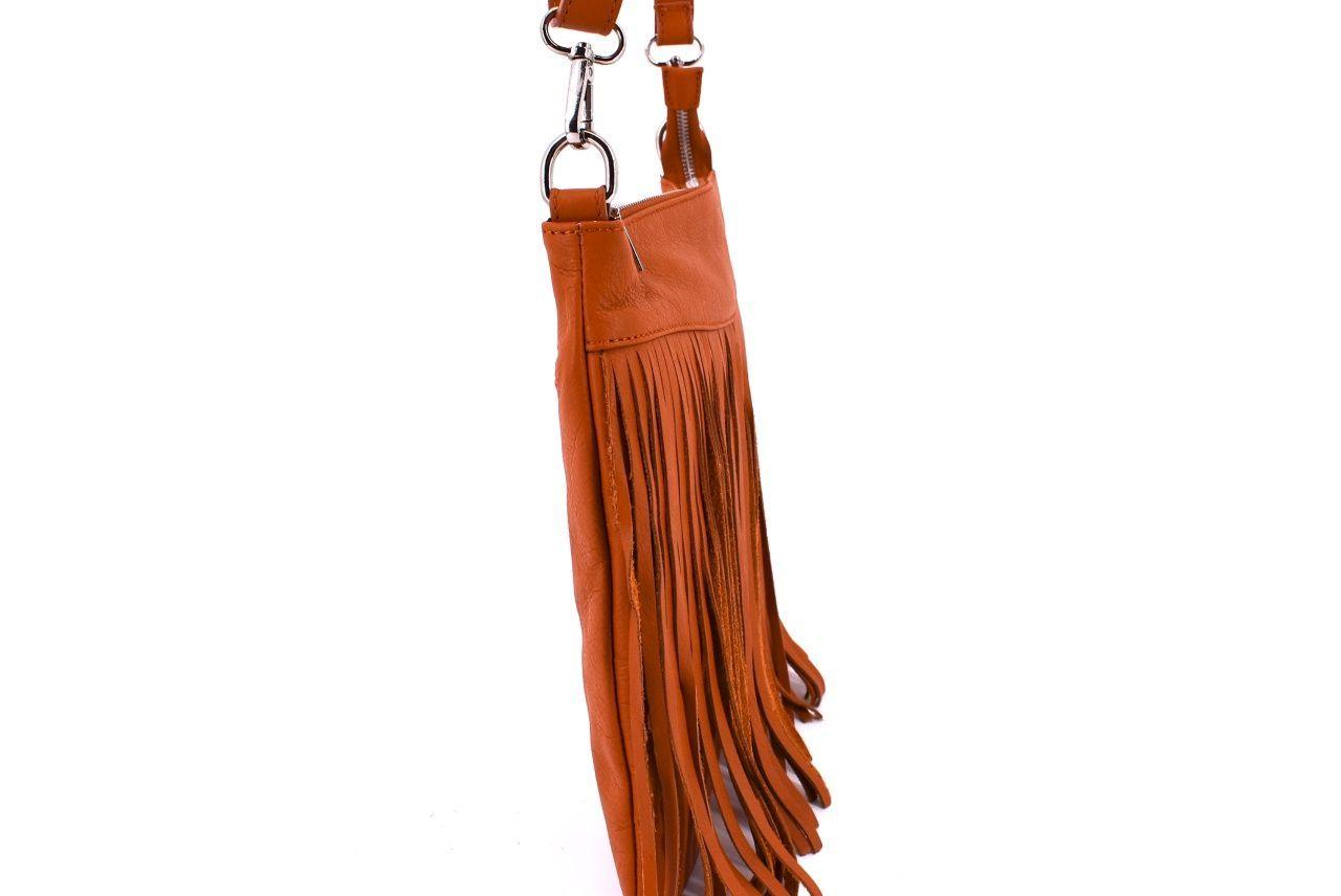 Dámská kožená kabelka crossbody Arteddy - červená 32493