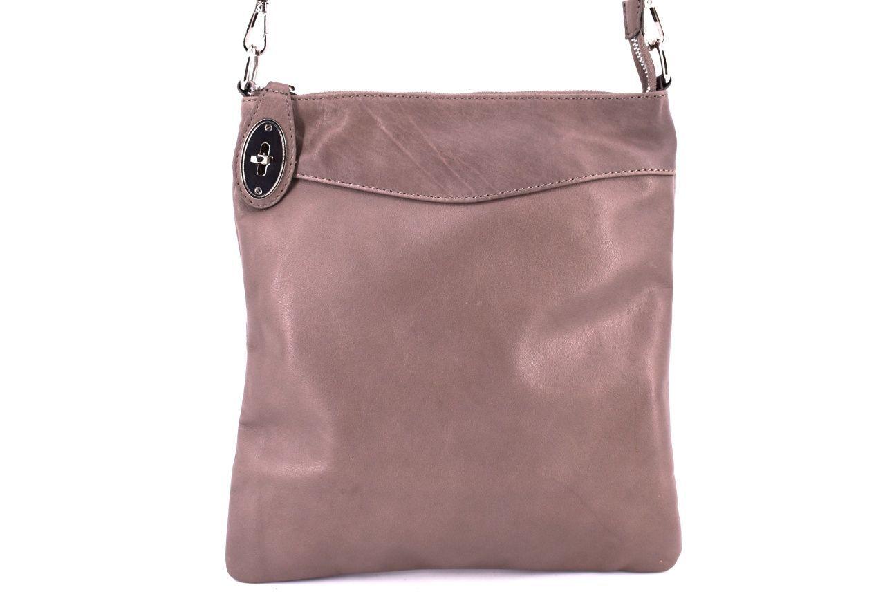 Dámská kožená kabelka crossbody Arteddy - taupe 34921