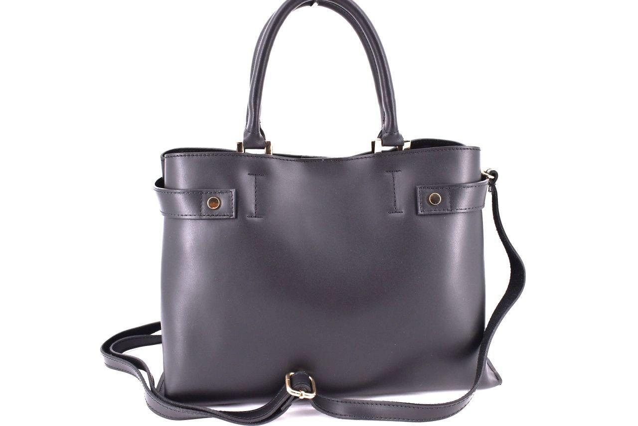Dámská kožená kabelka Arteddy - černá 32403