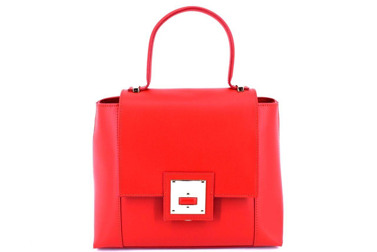 Dámská kožená kabelka s klopnou Arteddy - červená 32405