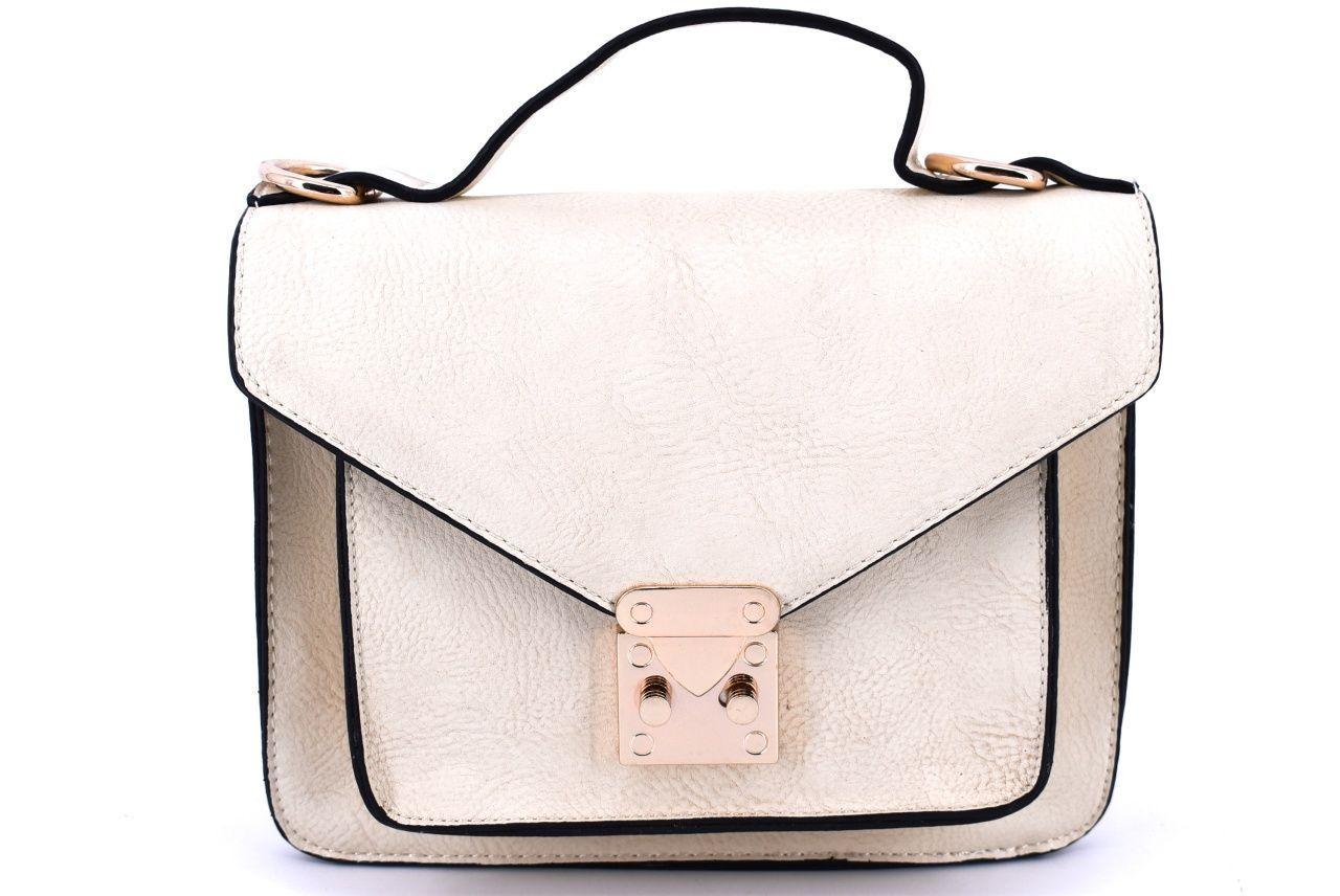 Dámská kabelka crossbody - krémová 29797