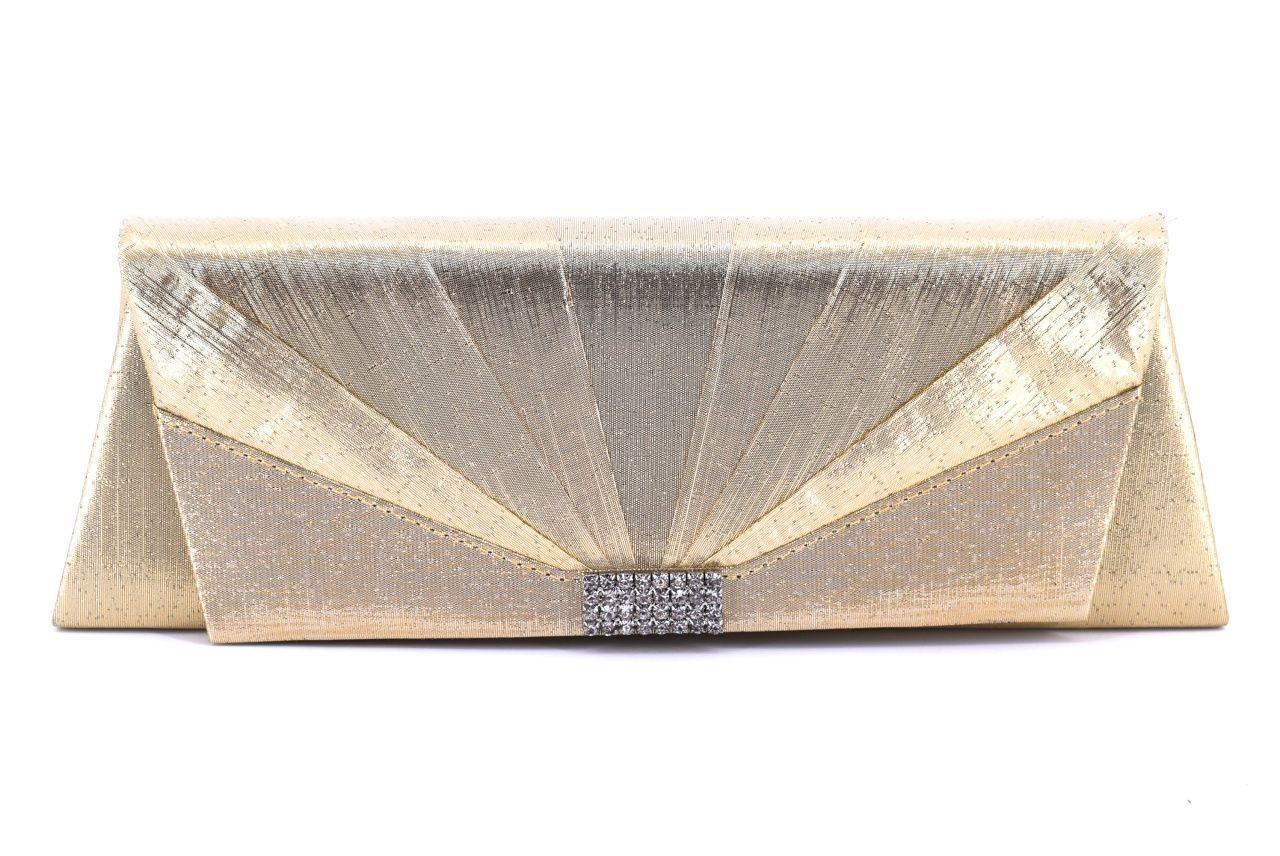 Dámská kabelka psaníčko - zlatá