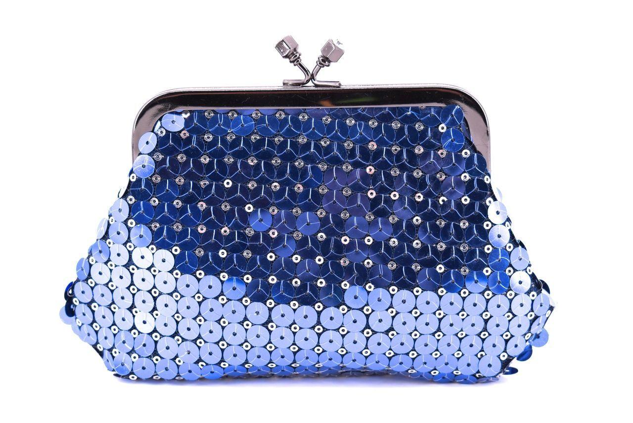 Dámská kabelka psaníčko - modrá 11316