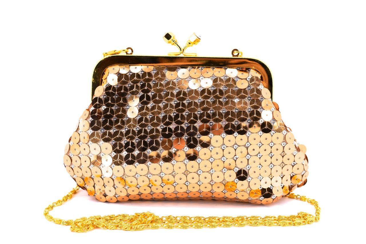 Dámská kabelka psaníčko - zlatá 11316