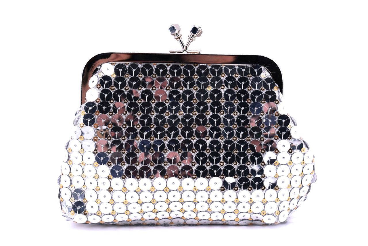 Dámská kabelka psaníčko - stříbrná 11316