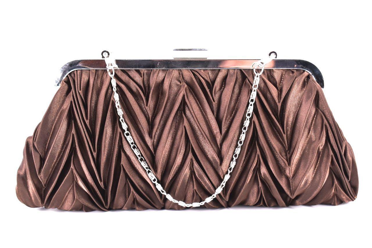 Dámská kabelka psaníčko - hnědá
