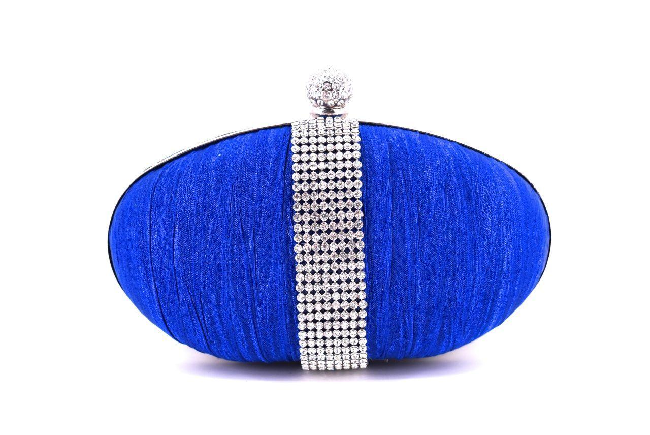 Dámská kabelka večerní - modrá 24536