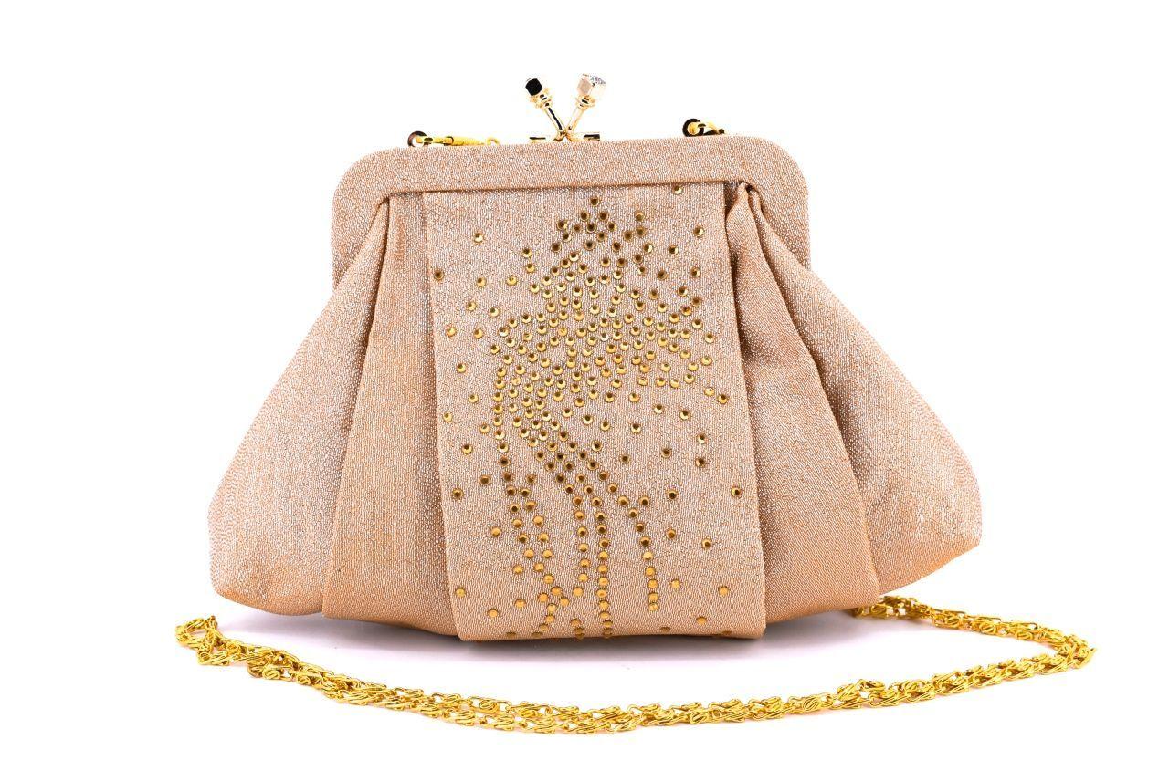 Dámská kabelka psaníčko - zlatá 23559