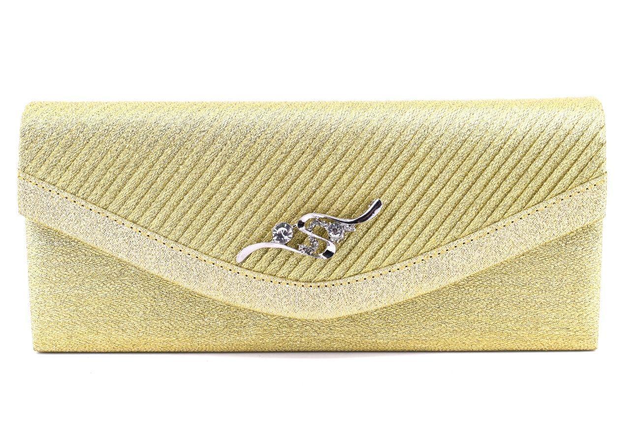 Dámská kabelka psaníčko - zlatá 91011
