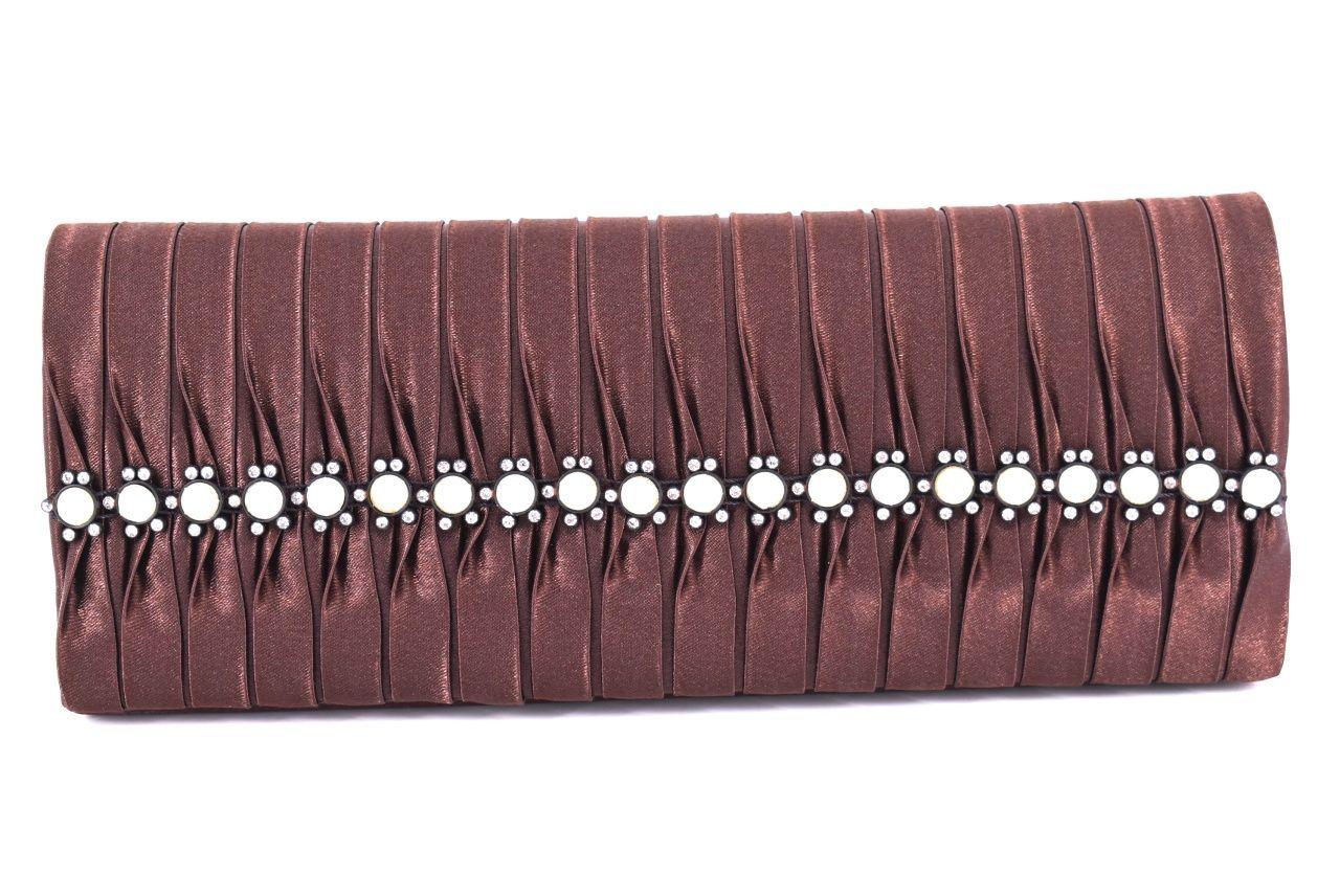 Dámská kabelka psaníčko - tmavě hnědá 80615