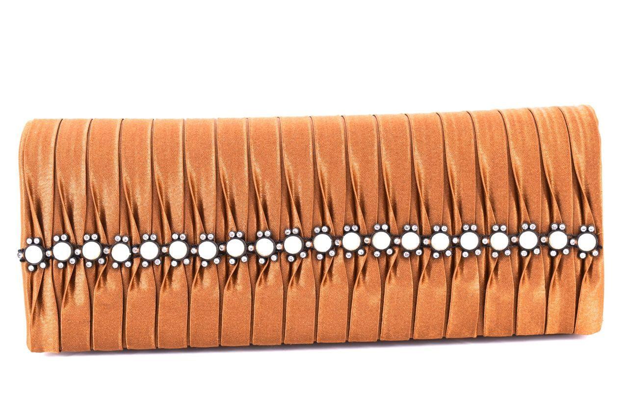 Dámská kabelka psaníčko - bronzová 80615