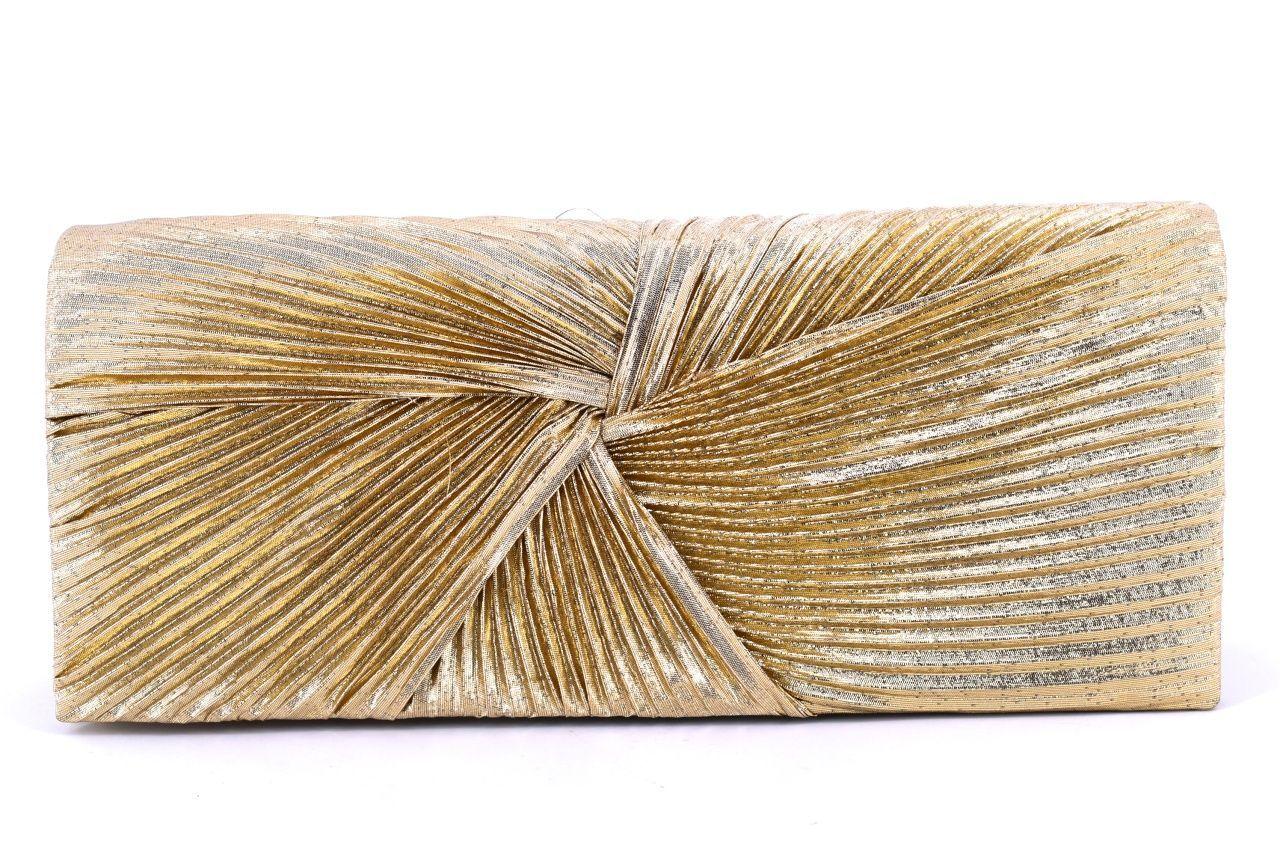 Dámská kabelka psaníčko - zlatá 11296