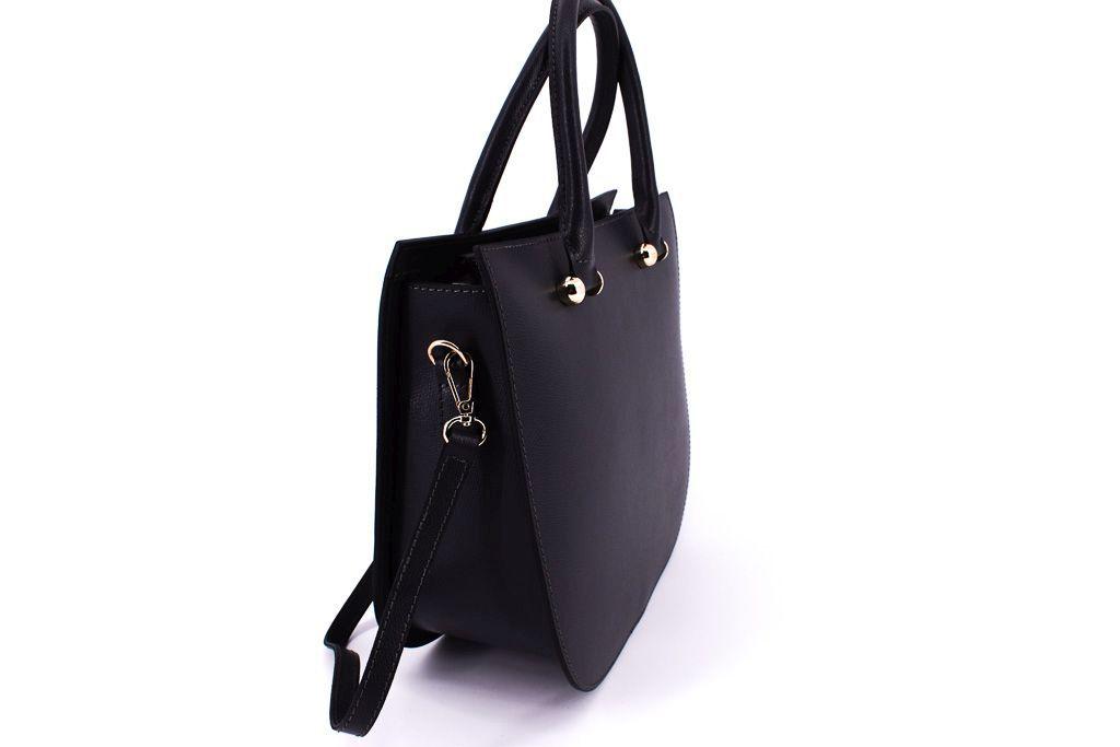 Dámská kožená kabelka Arteddy - tmavě hnědá 33857