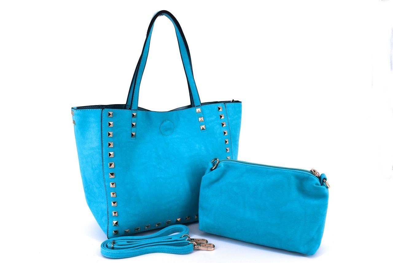 Dámská kabelka světle modrá 27266
