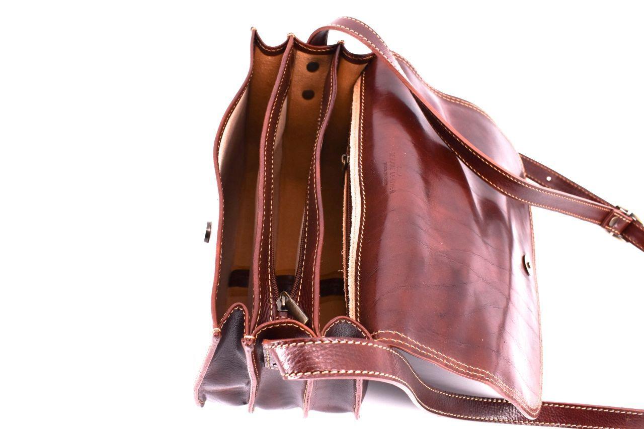 Dámská velká kožená kabelka lovecká Arteddy - hnědá