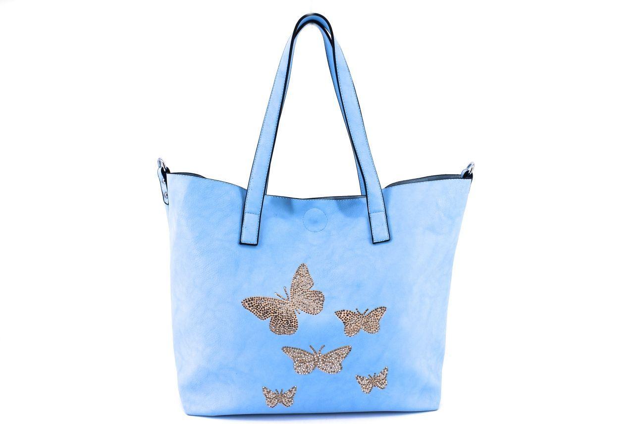 Dámská kabelka modrá 27259