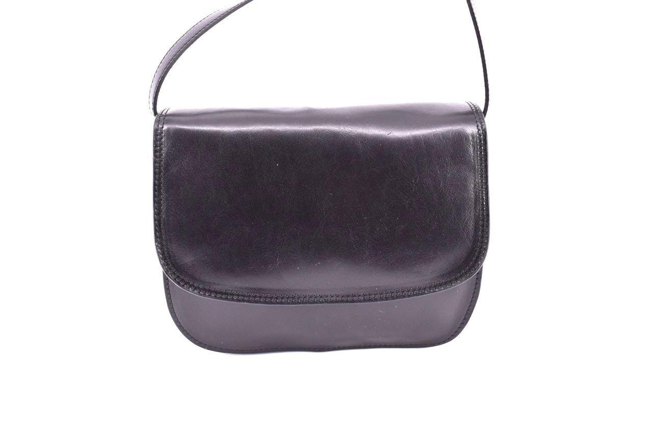 Dámská velká kožená kabelka lovecká Arteddy - černá