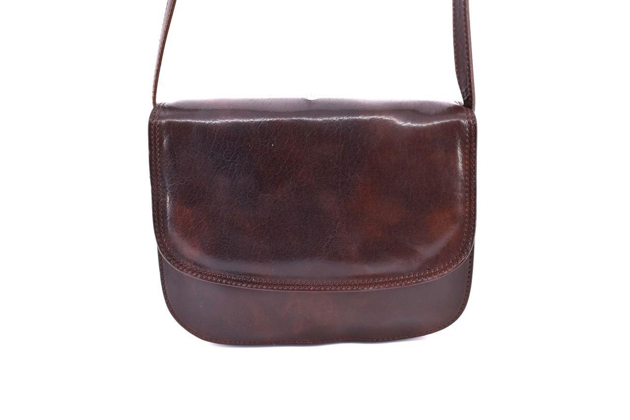 Dámská velká kožená kabelka lovecká Arteddy - tmavě hnědá