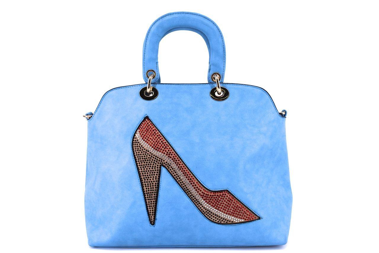 Dámská kabelka střevíček - modrá