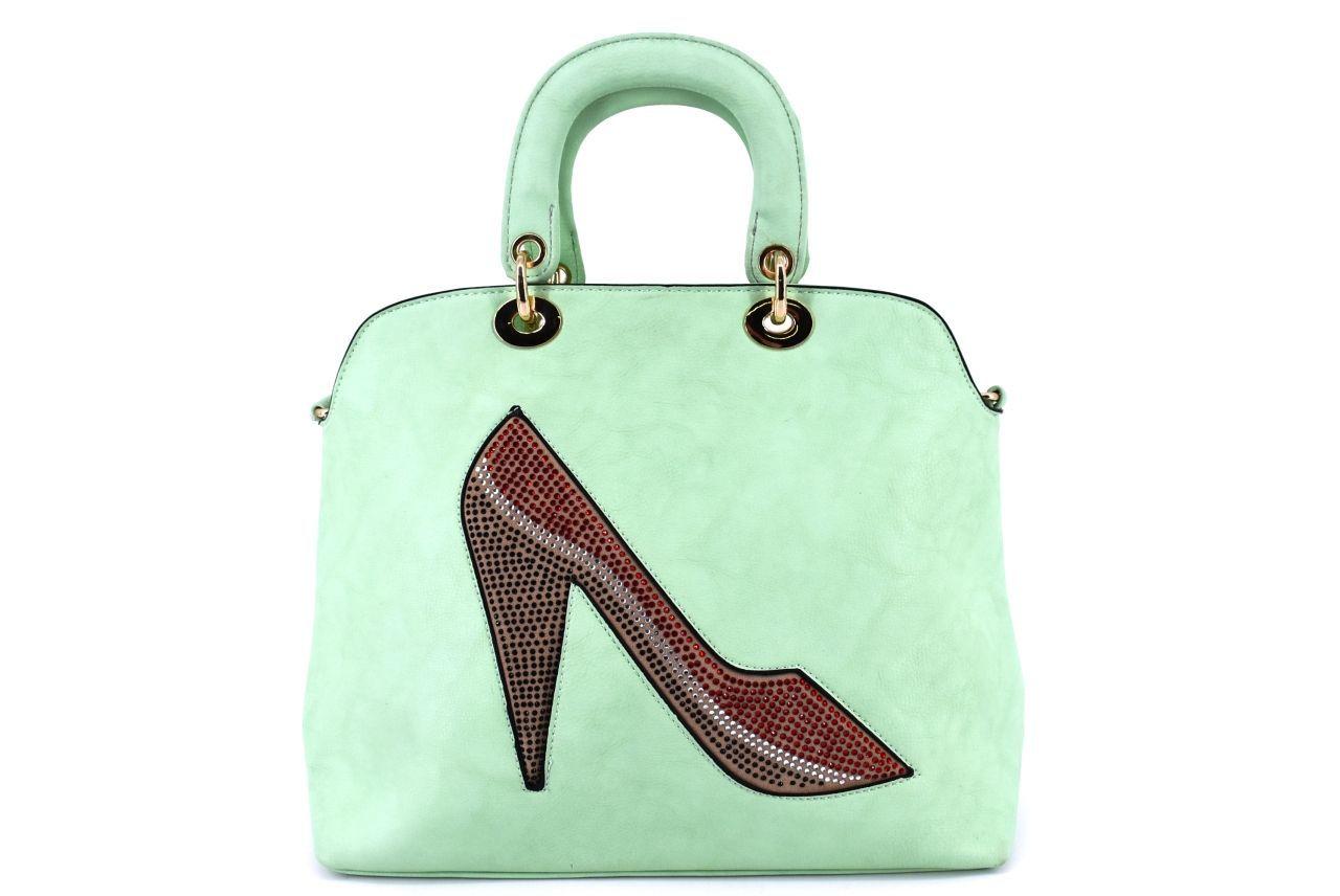 Dámská kabelka střevíček - zelená 27310