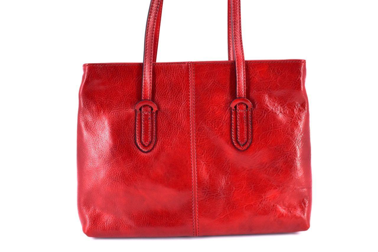 Dámská kožená kabelka Arteddy - červená