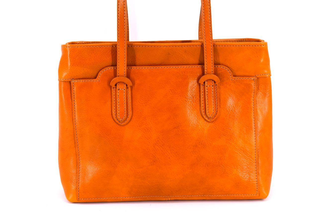 Dámská kožená kabelka Arteddy - camel 29627