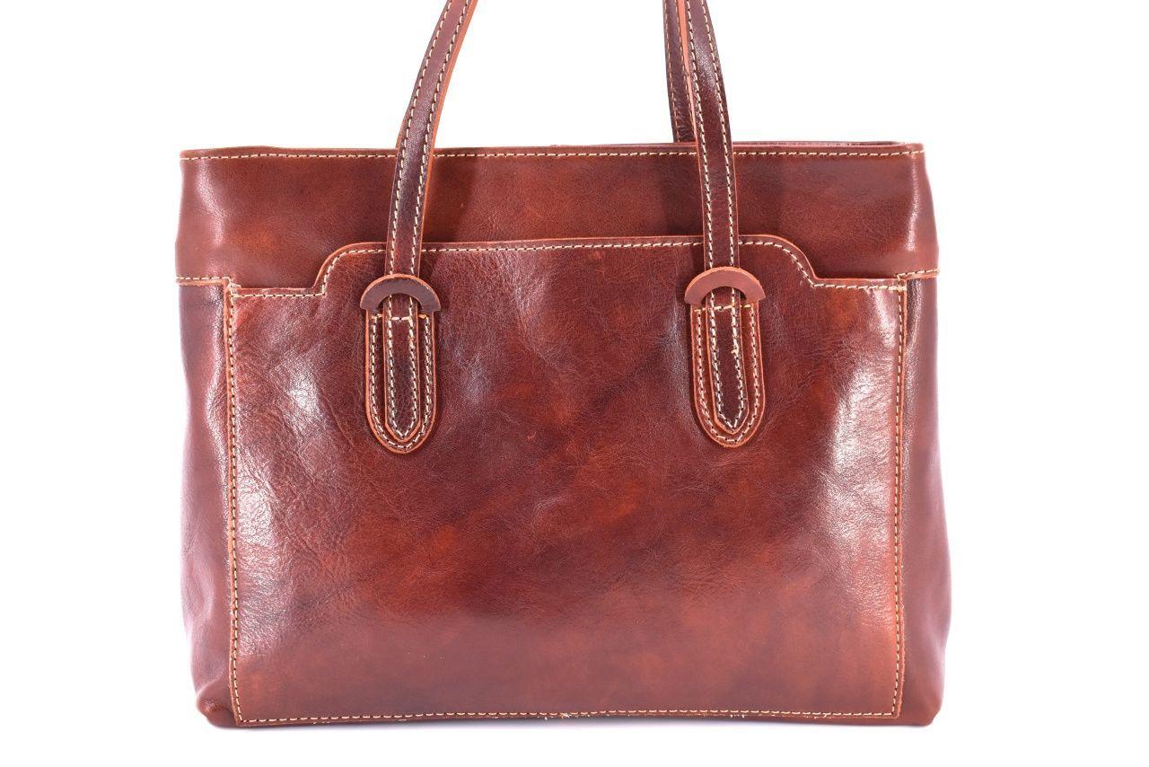 Dámská kožená kabelka Arteddy - hnědá 29627