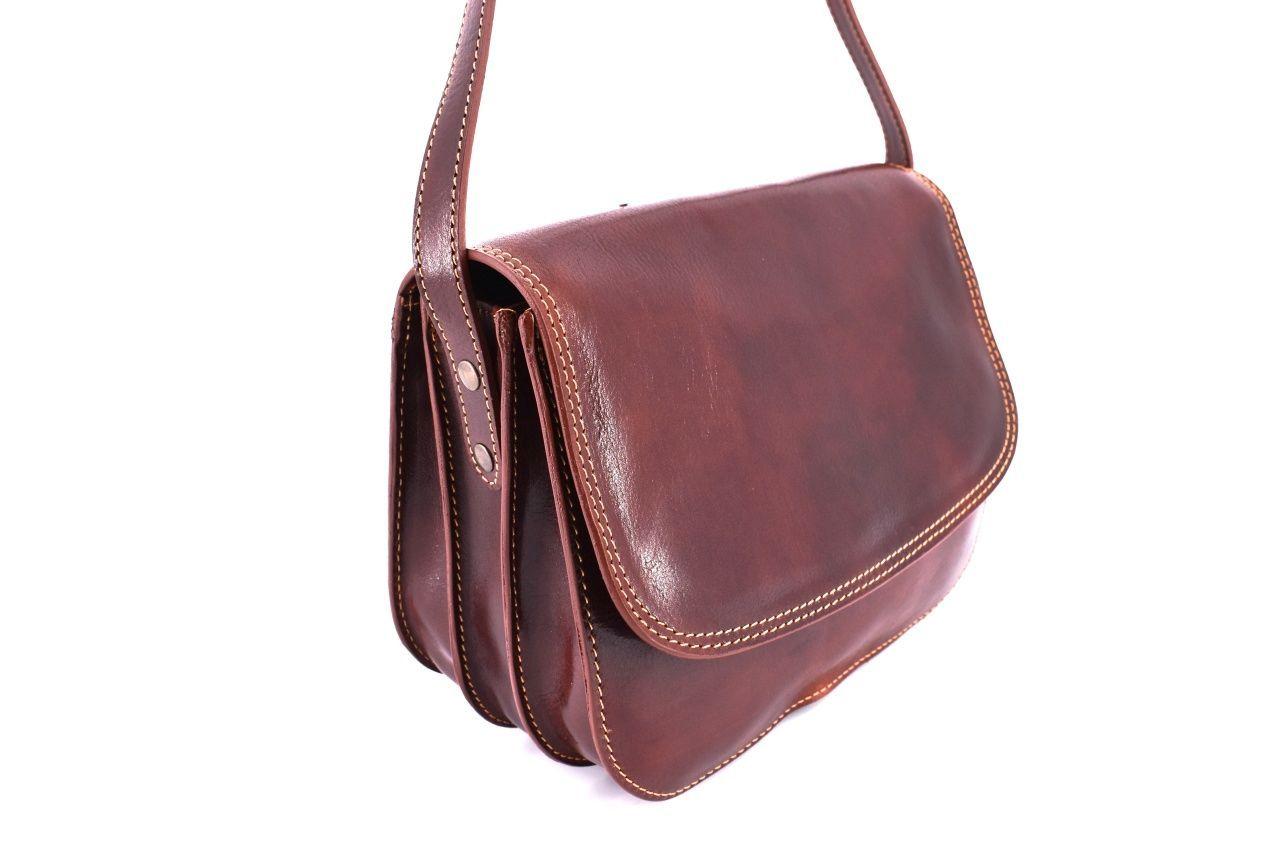 Dámská velká kožená kabelka lovecká Arteddy - zelená 29638