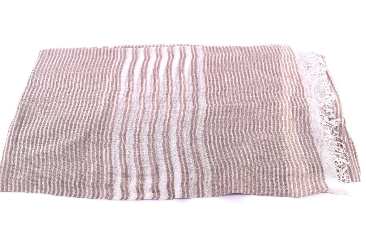 Dámský pruhovaný šátek Arteddy -béžová